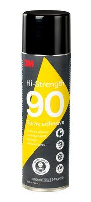 3M Spruehkleber 500ml gelblich Spray 90 Permanent